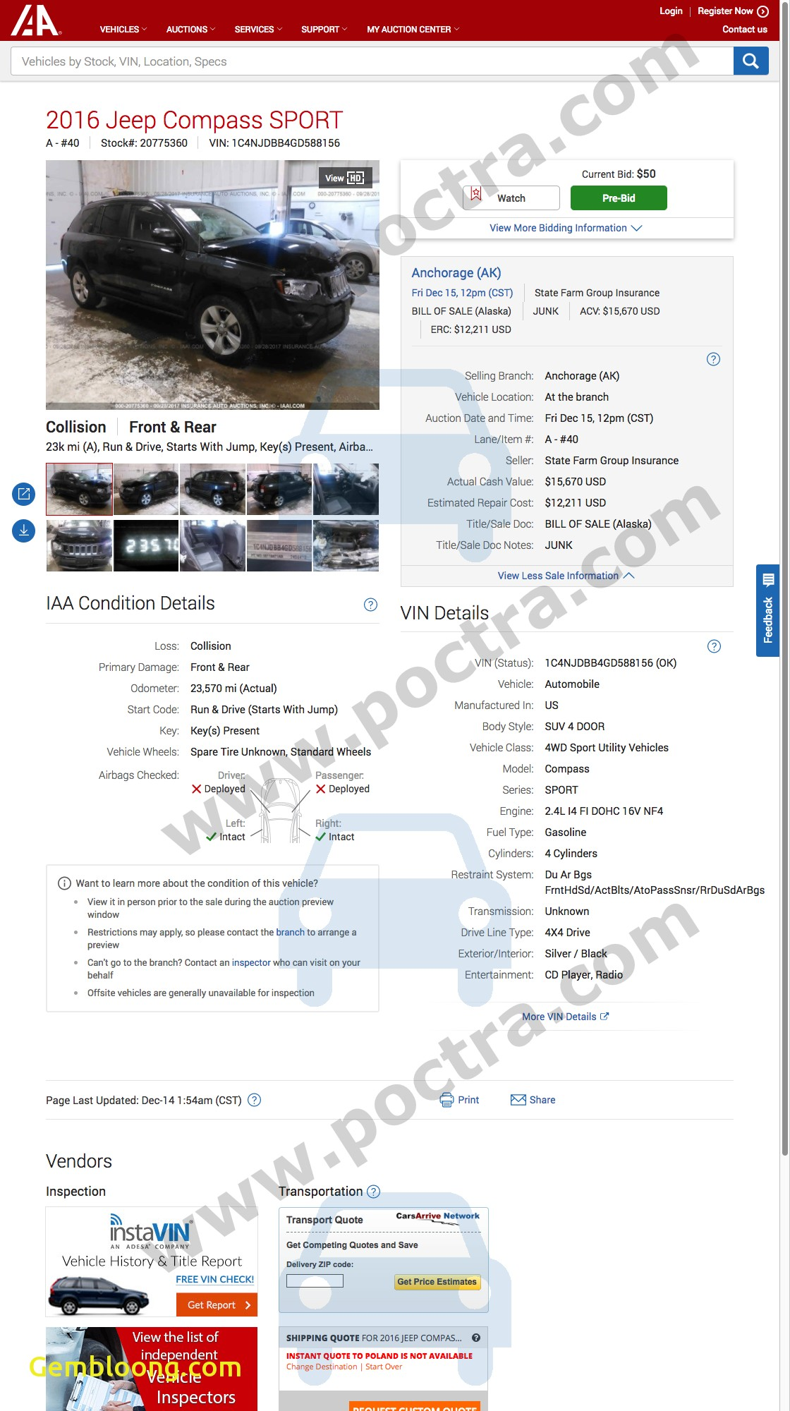Car History Report Awesome 2016 Jeep Pass Sport 1c4njdbb4gd Photos Poctra
