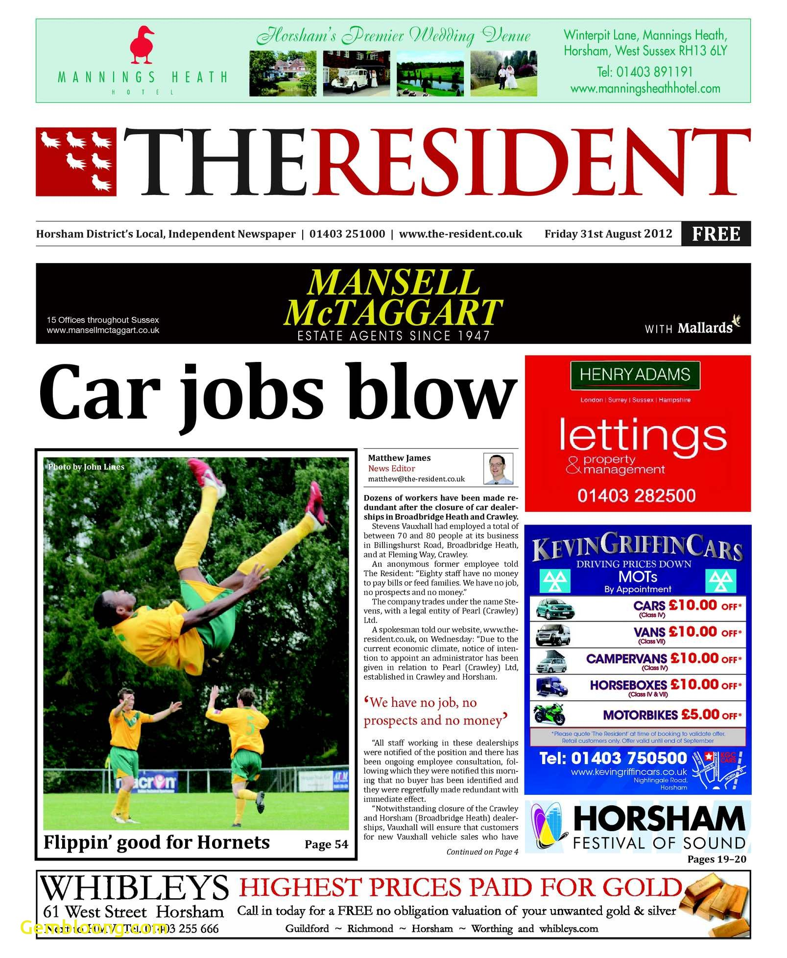 Carfax Accident Report Fresh Calaméo the Resident 31st August 2012