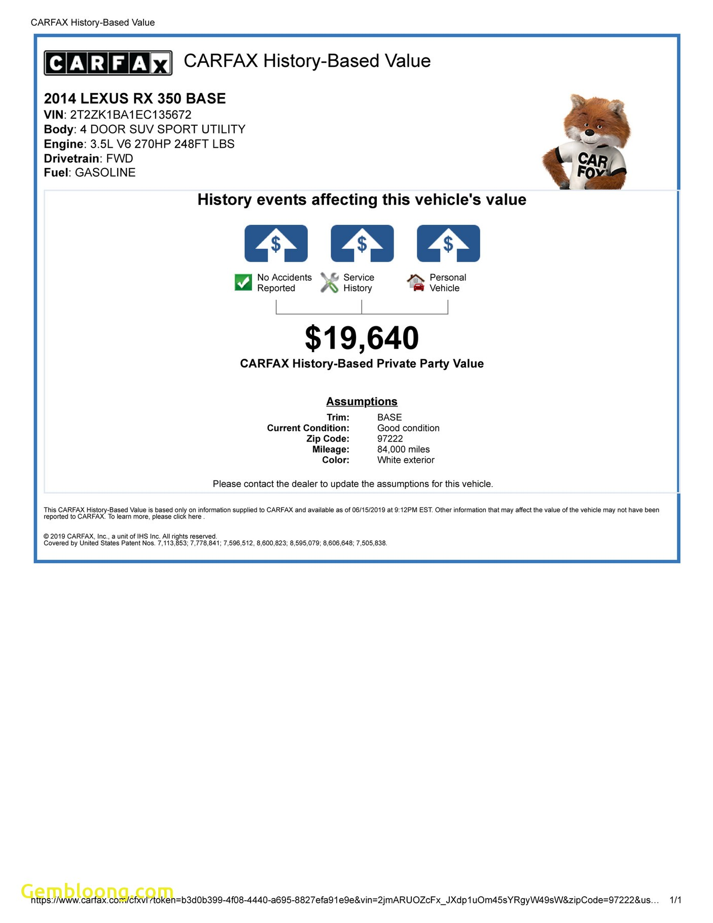 Carfax Accident Report Fresh My Publications Carfax Vehicle History Report for This