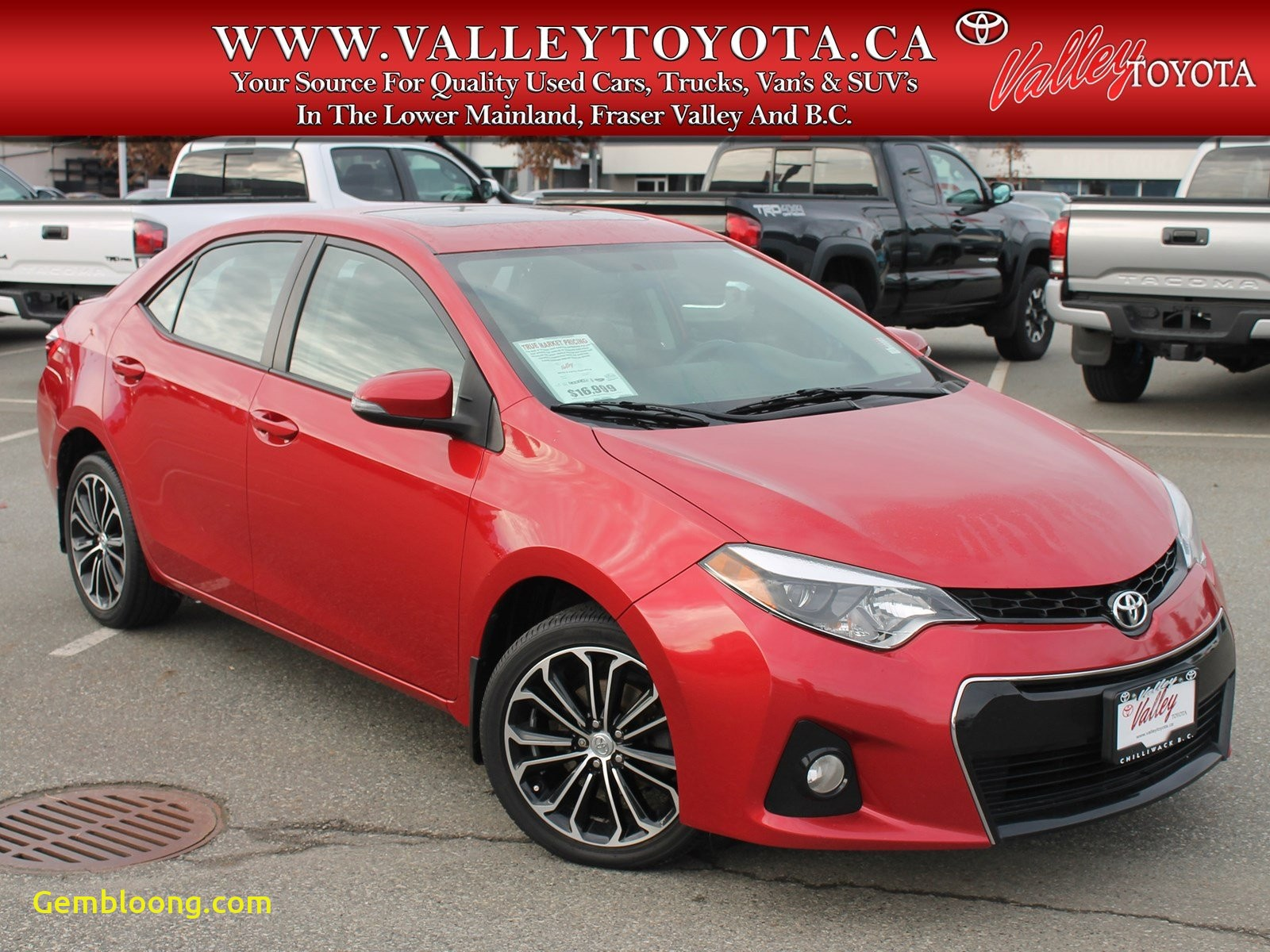 Carfax Used Cars Canada Unique Pre Owned 2015 toyota Corolla S Fwd 4dr Car