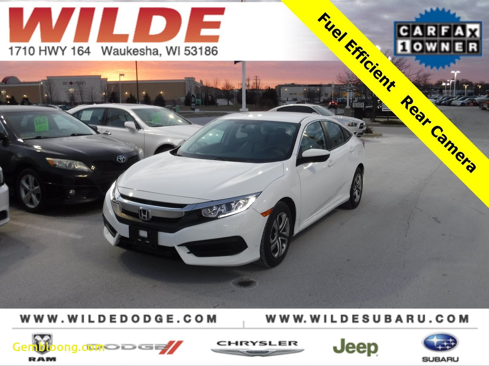 Carfax Used Cars New Jersey Unique Pre Owned 2017 Honda Civic Sedan Lx 2wd Fwd Sedan