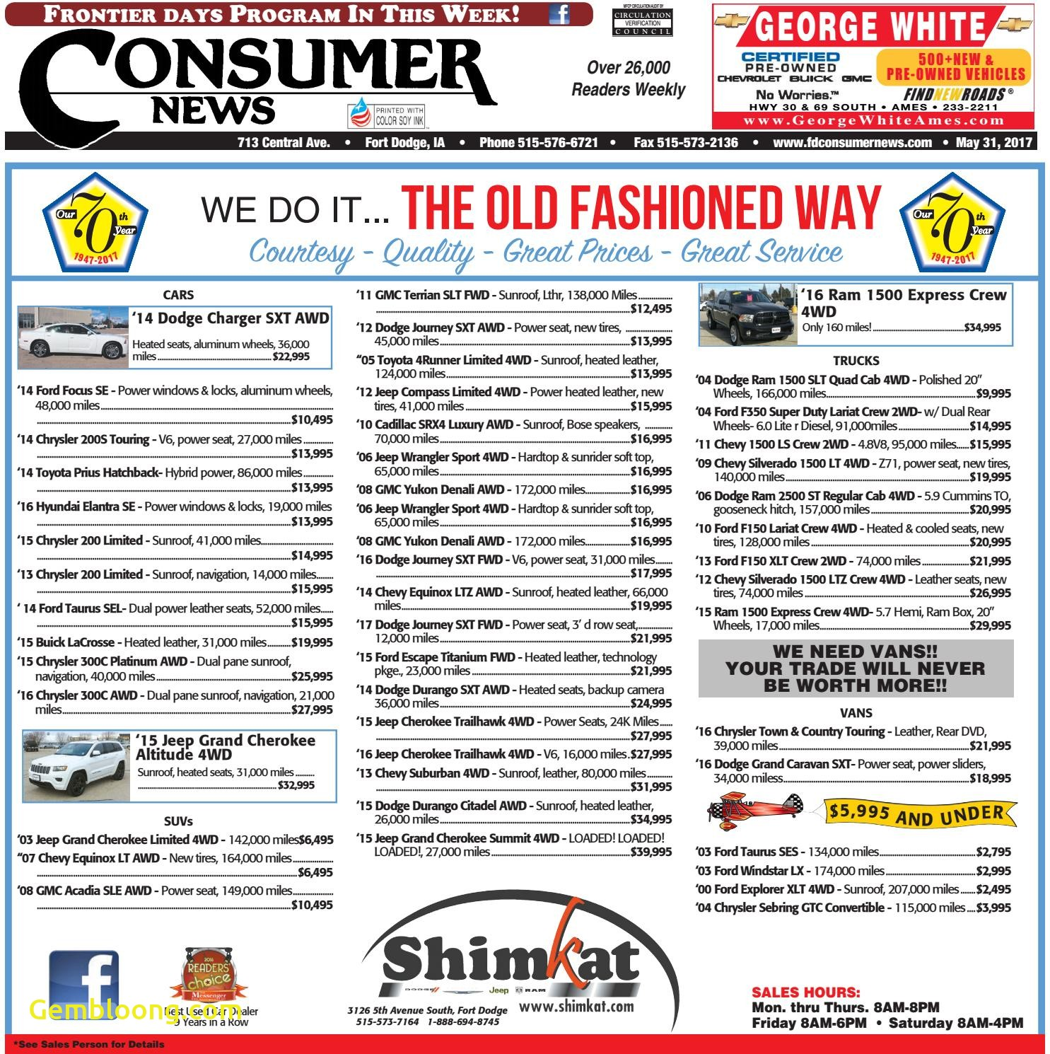Unlimited Carfax Inspirational 05 31 17 Consumer News by Consumer News issuu
