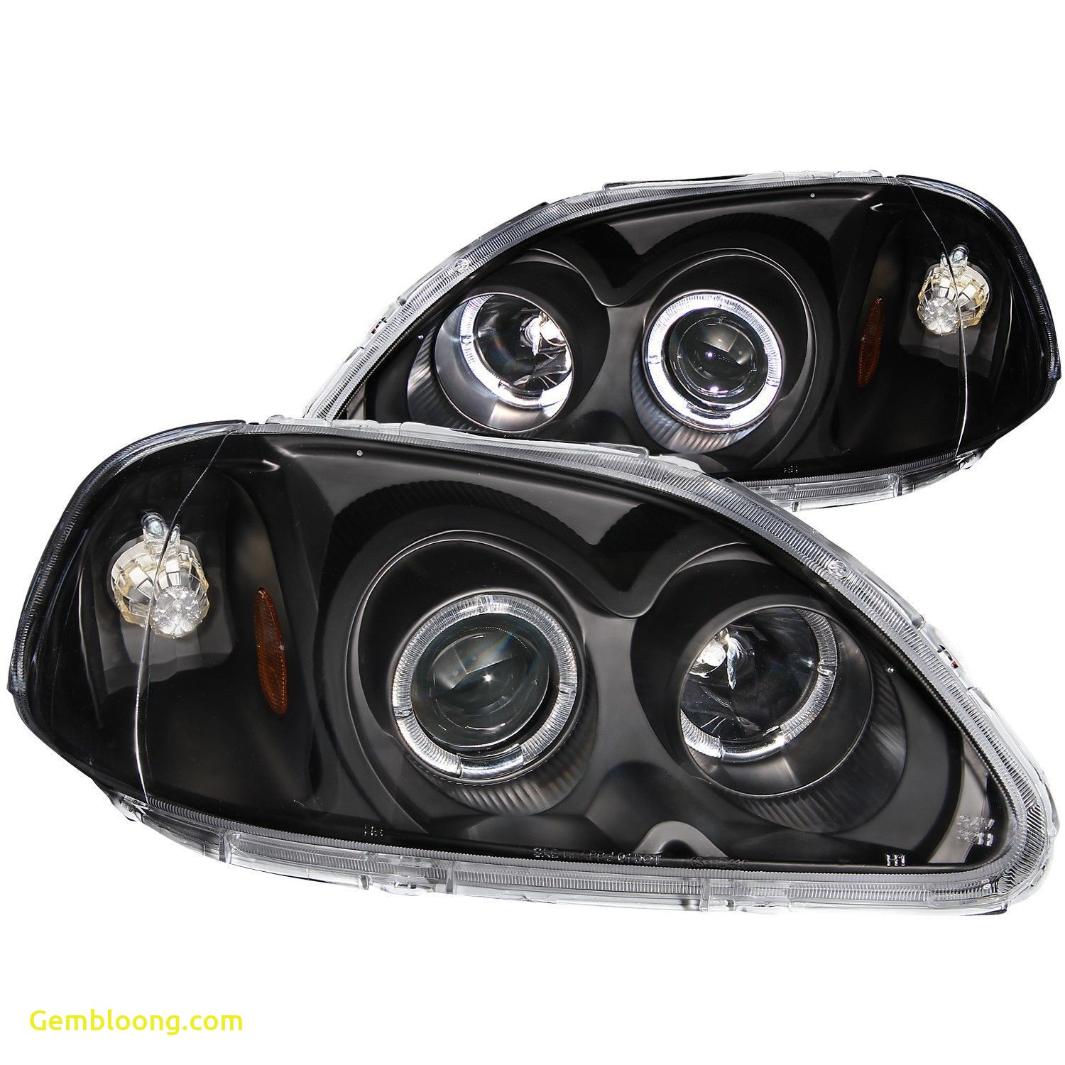 2012 Honda Civic Inspirational Anzo Projector Halo Headlights Black 1996 1998 Honda Civic
