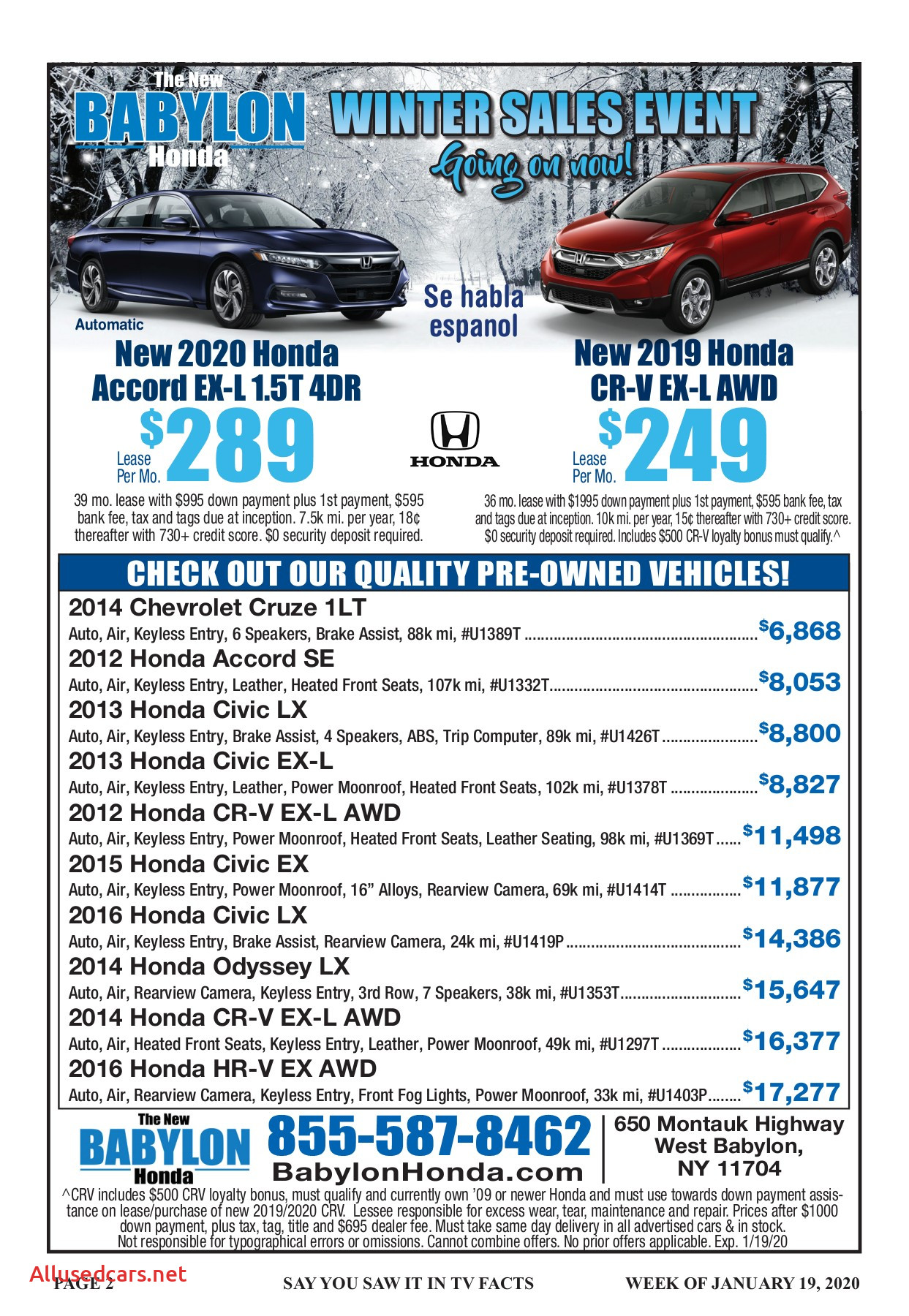 2014 Honda Accord Unique Tv Facts January 19 2020 Pages 1 36 Text Version