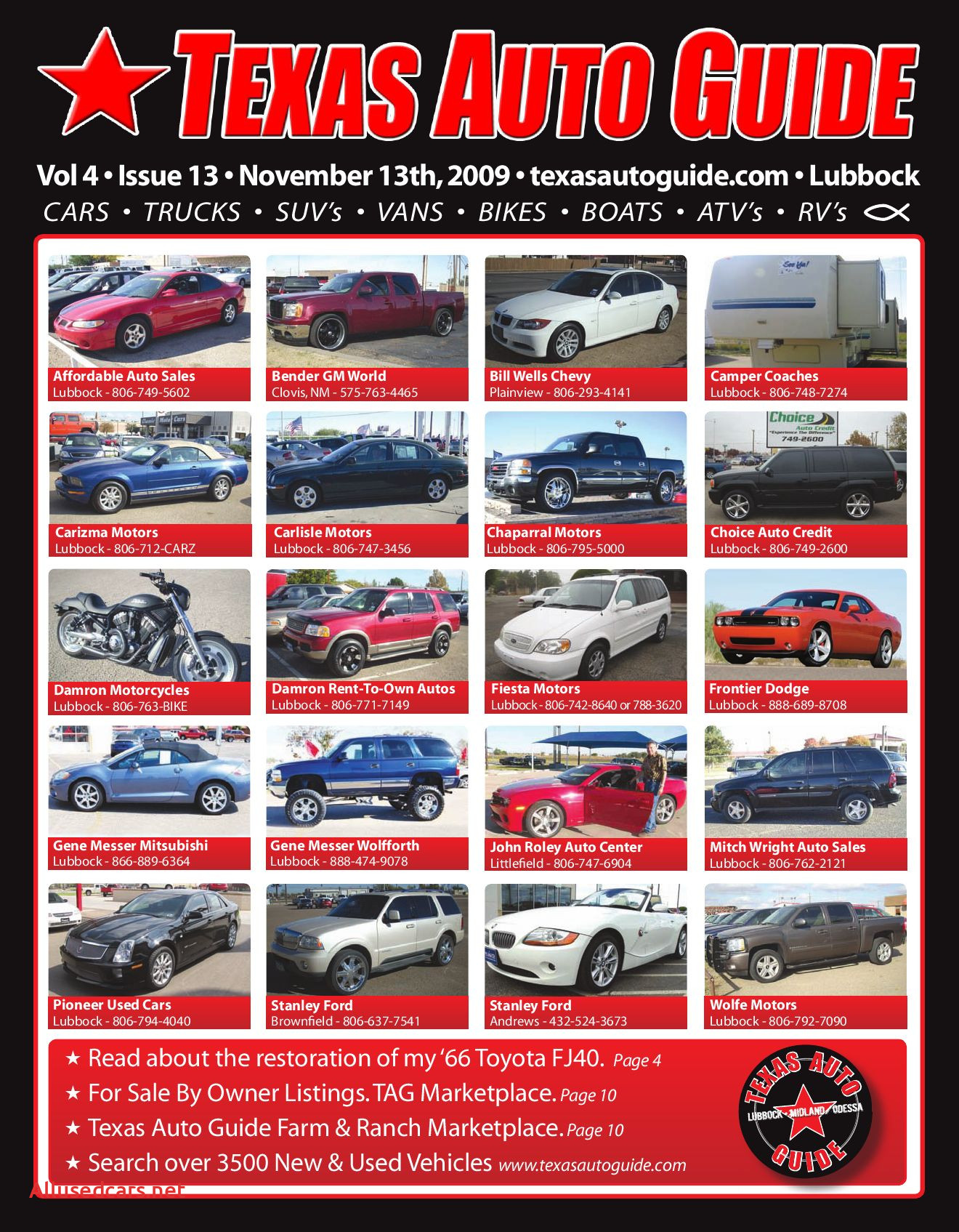 Affordable Auto Sales New November issue Of Texas Auto Guide Lubbock by Texas Auto