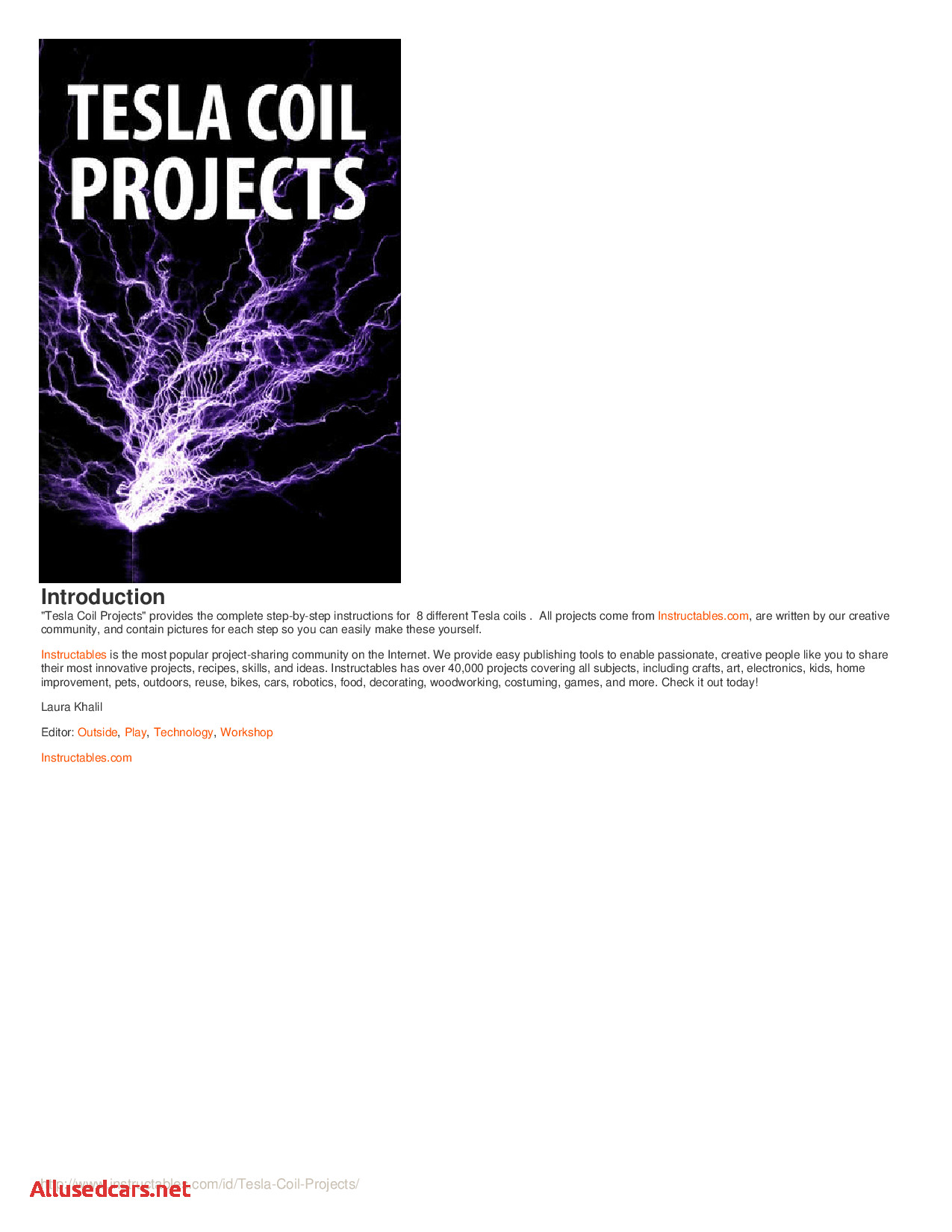 Are Tesla Coils Dangerous Lovely Tesla Coil Projects Tesla Coil Projects Docsity