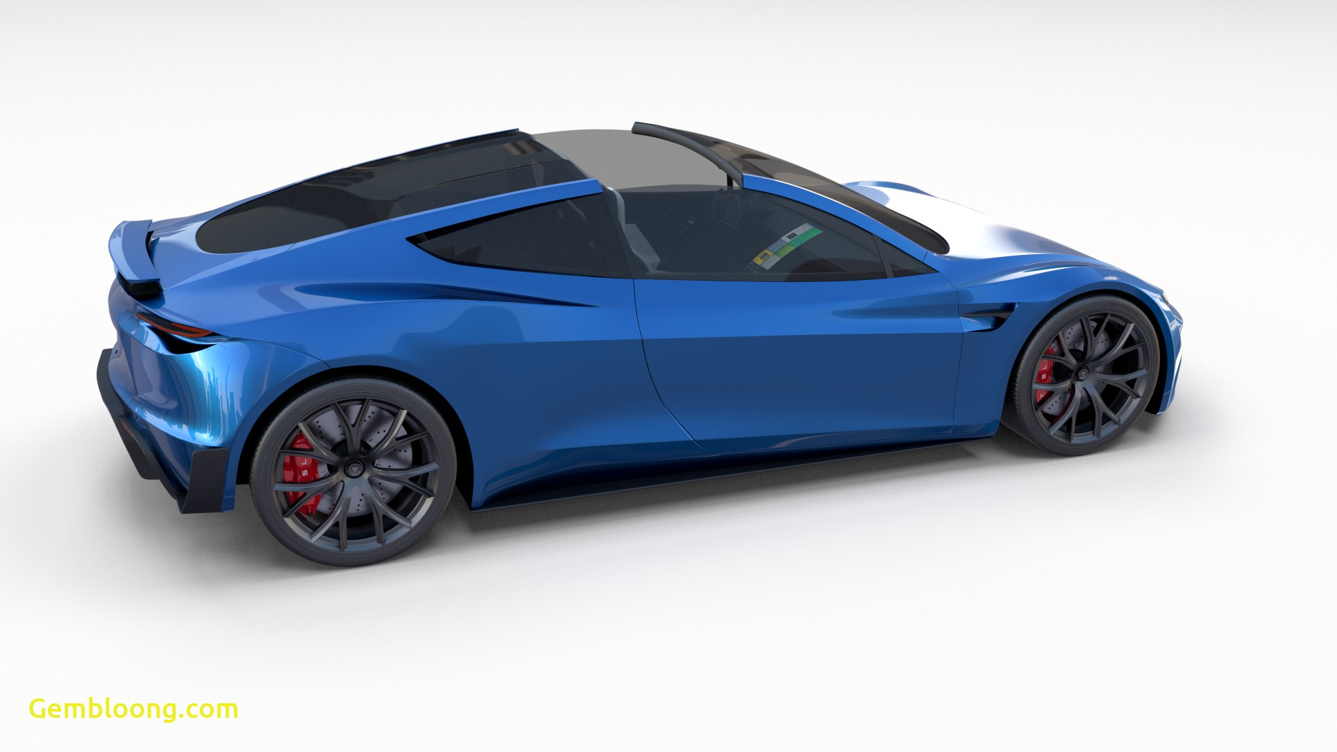 Tesla 2020 Inspirational Tesla Roadster 2020 Electric Blue with Interior and Chassis