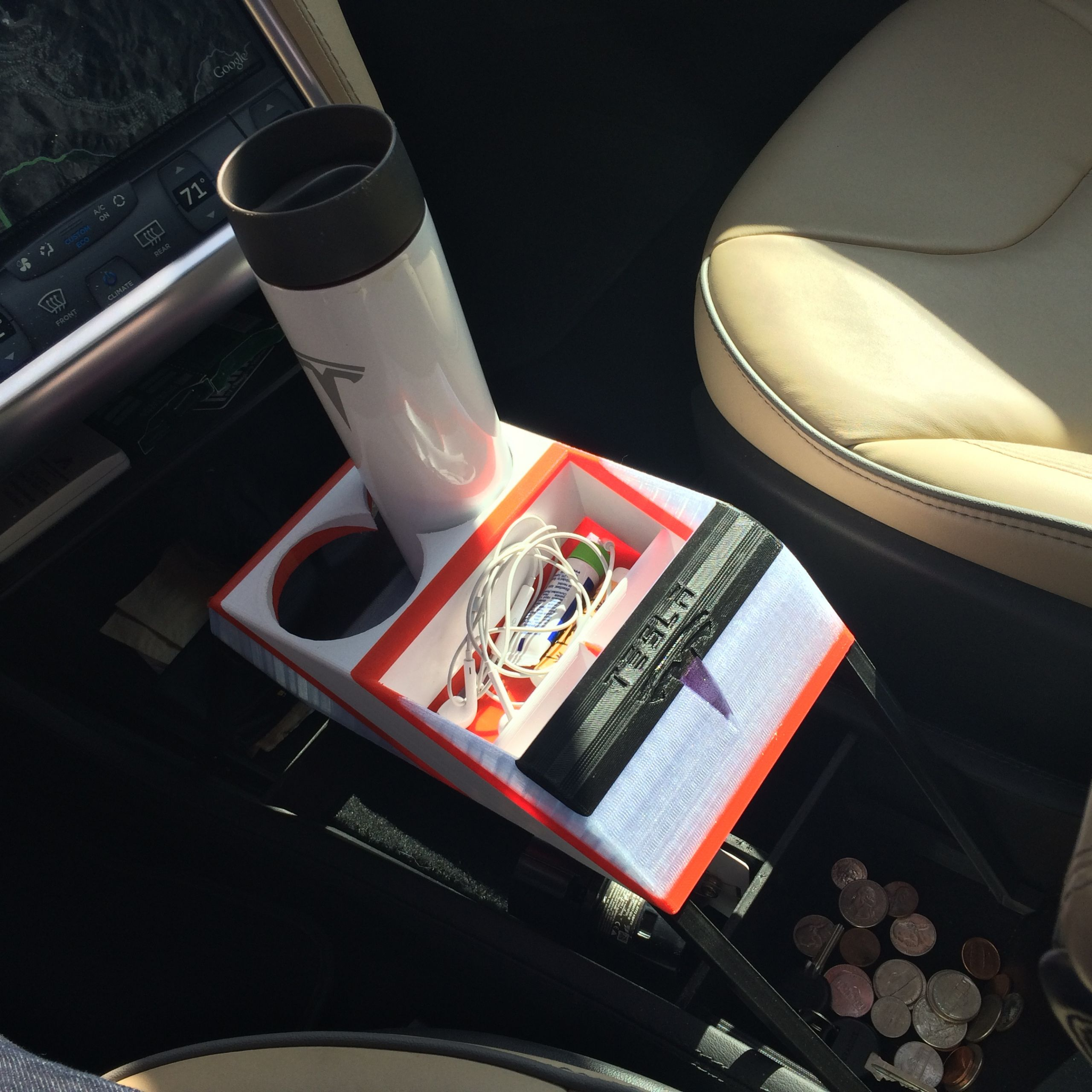 Tesla Model S Elegant Tesla Model S Center Console by Oleeichhorn Thingiverse