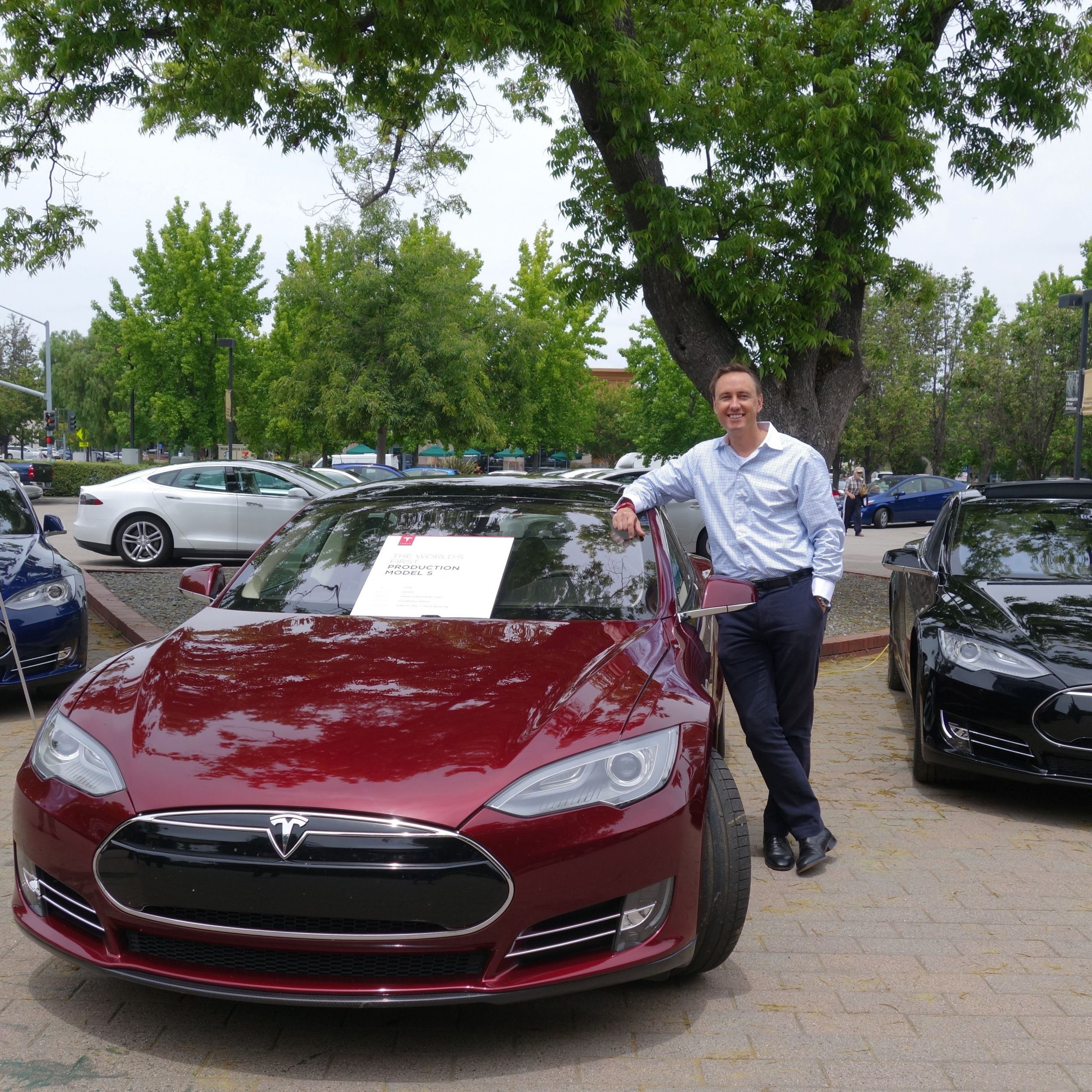 First Tesla Model S 3rd anniversary 2015