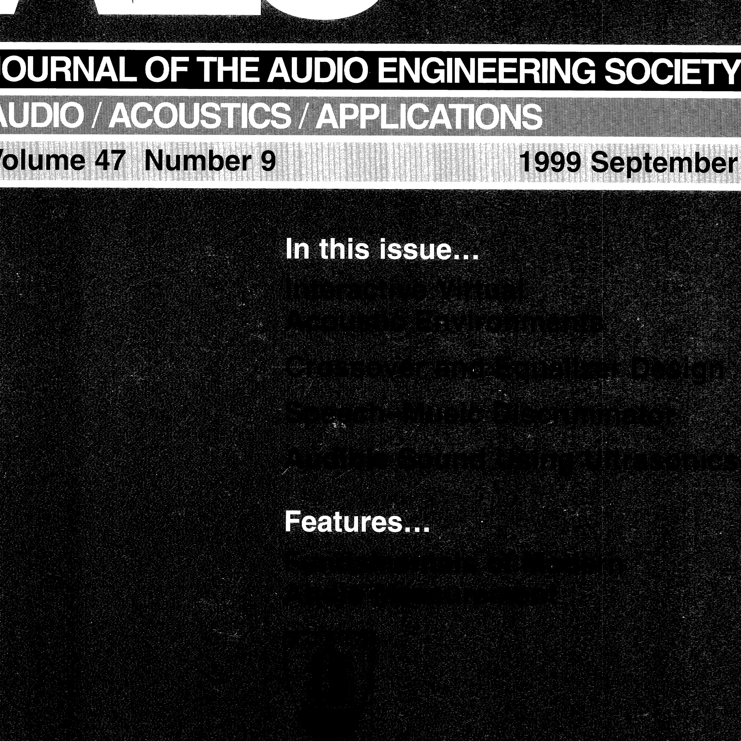 Tesla to Oersted Lovely Aes E Library Plete Journal Volume 47 issue 9