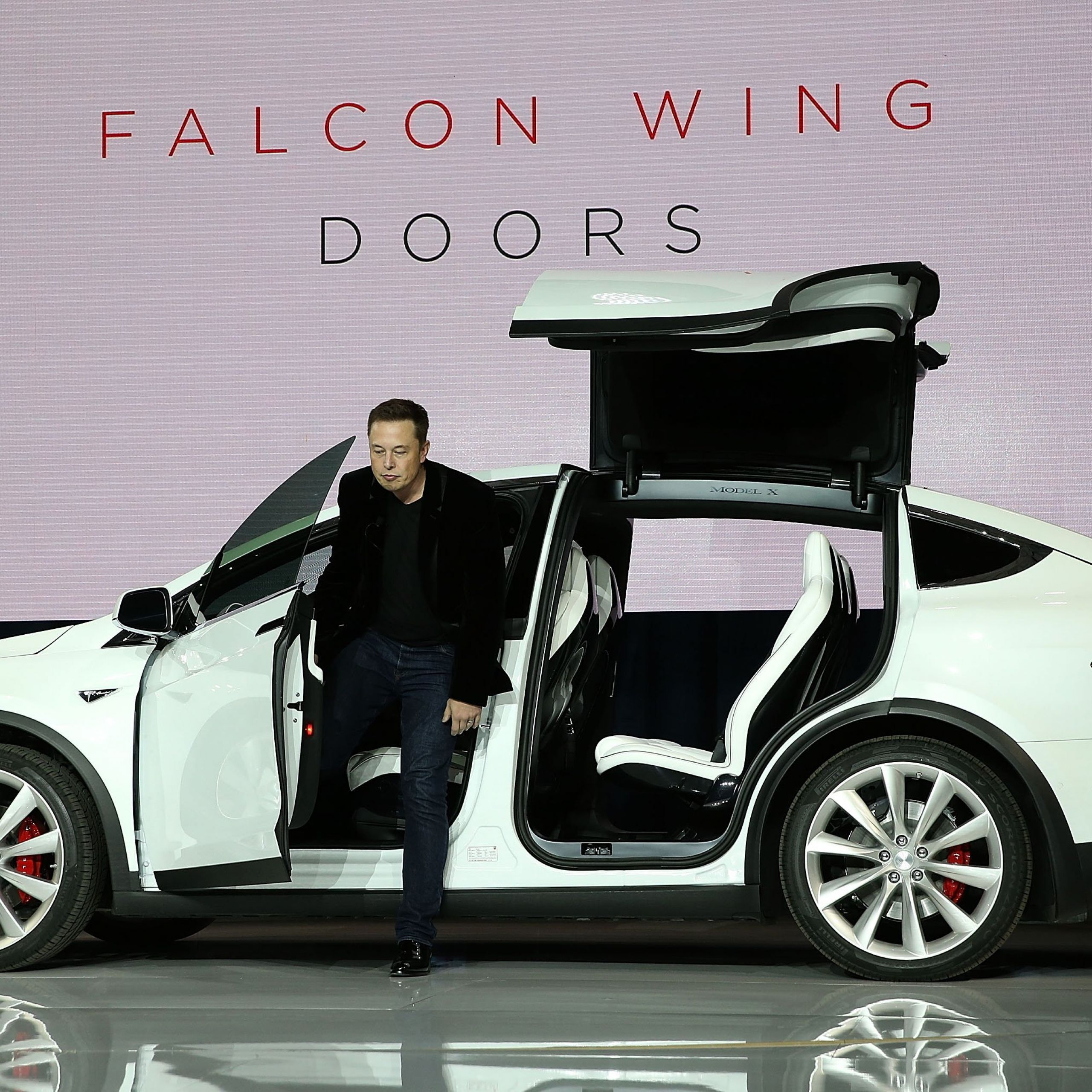 Awesome Tesla With Gullwing Doors