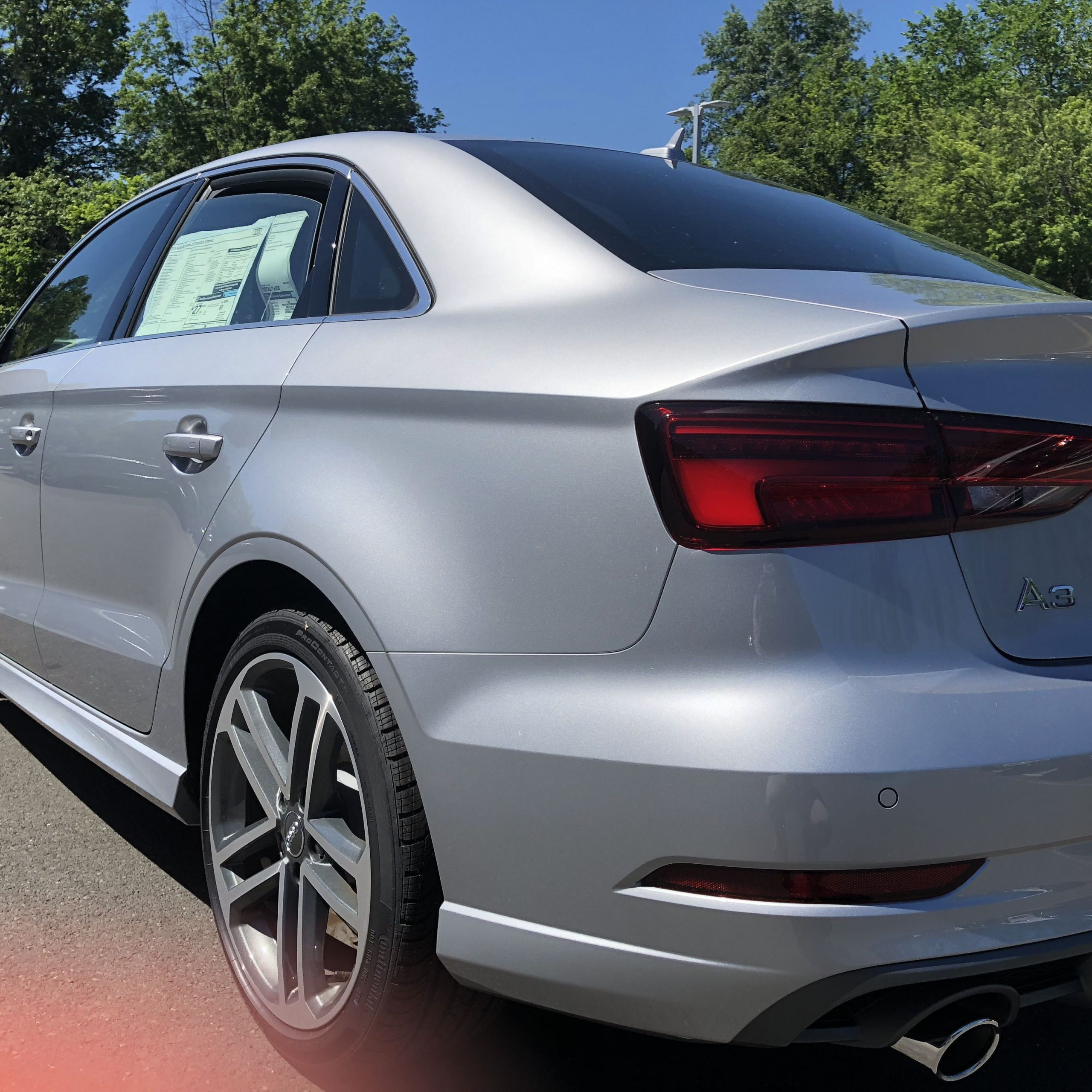 Used Audi Unique Rear Angled View Of the 2018 Audi A3 In Florett Silver