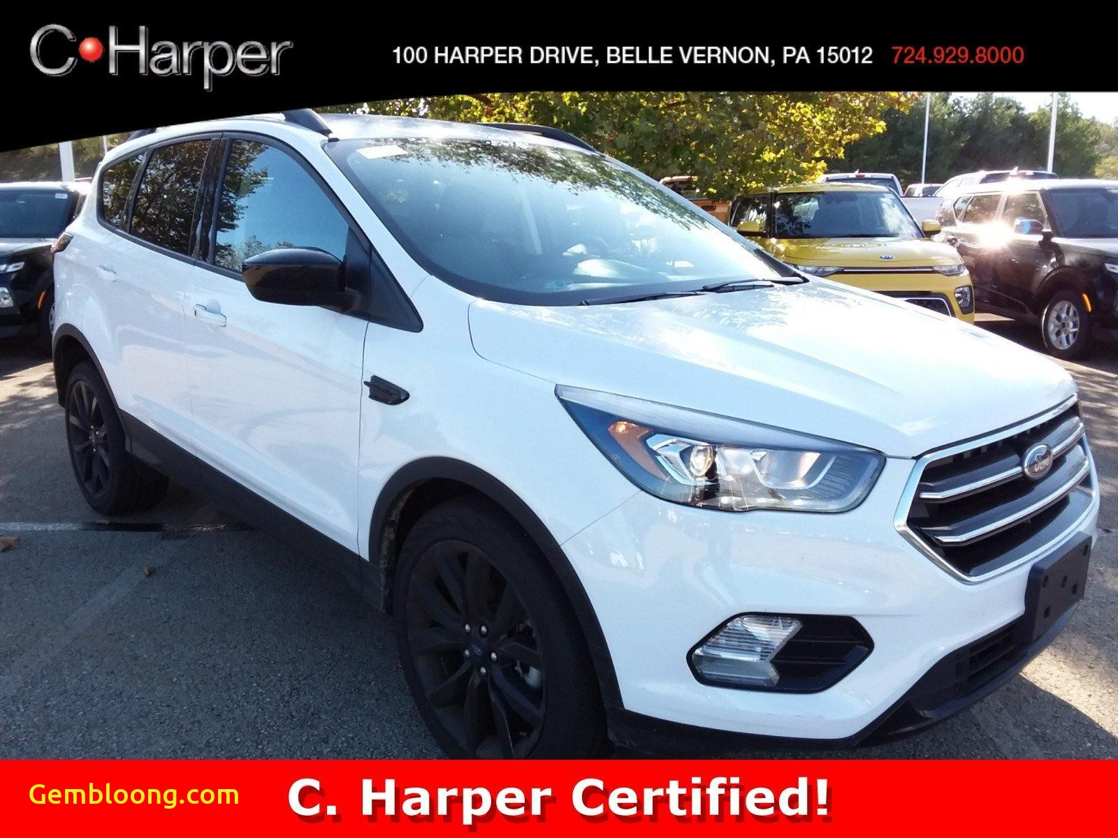 Used Suv for Sale Luxury 2019 White ford Escape Used Suv for Sale In Belle Vernon