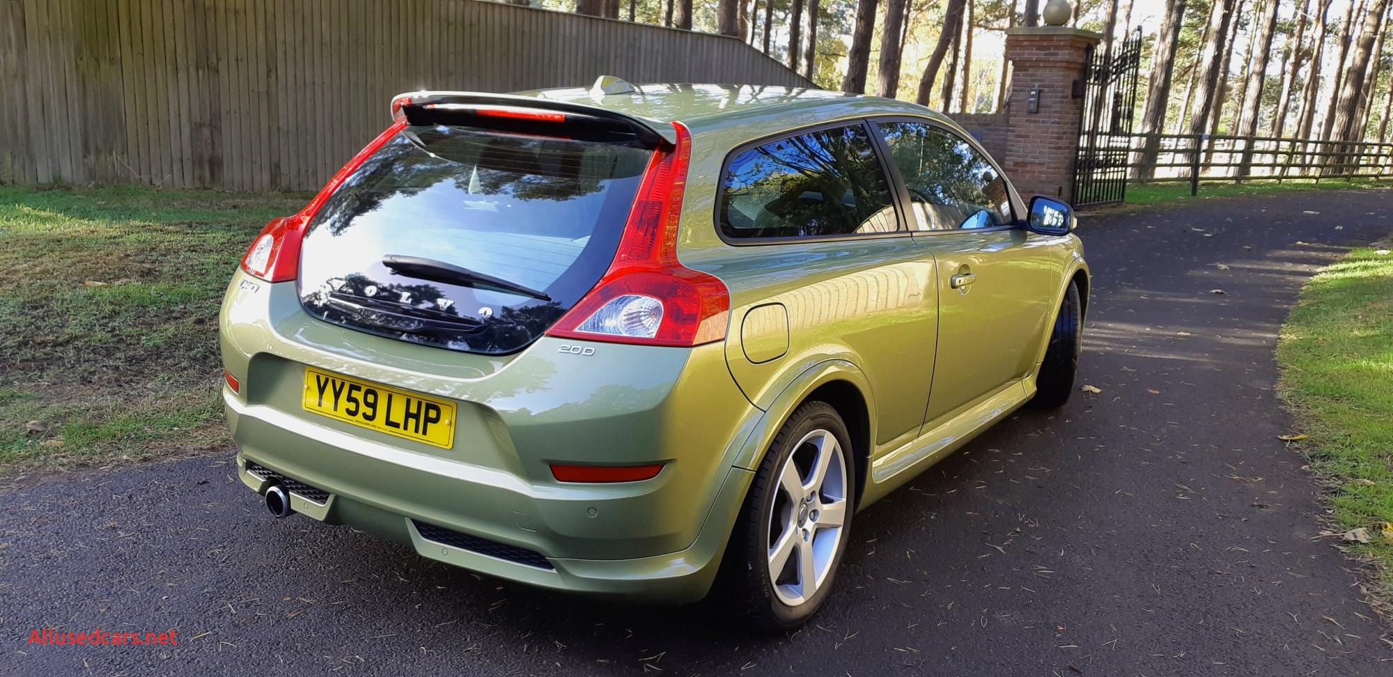 volvo c30 2 0d r design in lime grass green for sale by woodlands cars 1