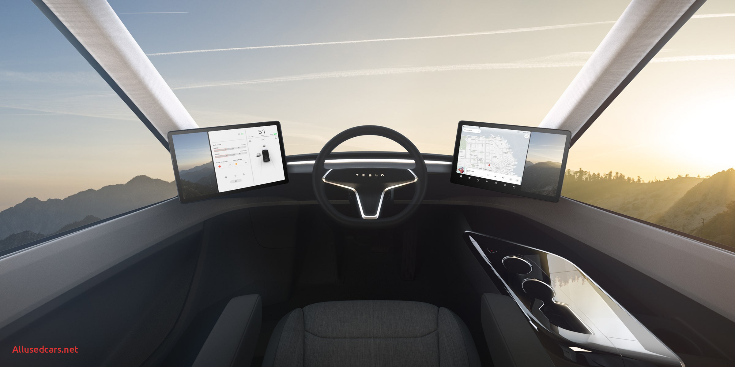 Order A Tesla Truck Beautiful Elon Musk Reveals Tesla S Electric Semitruck
