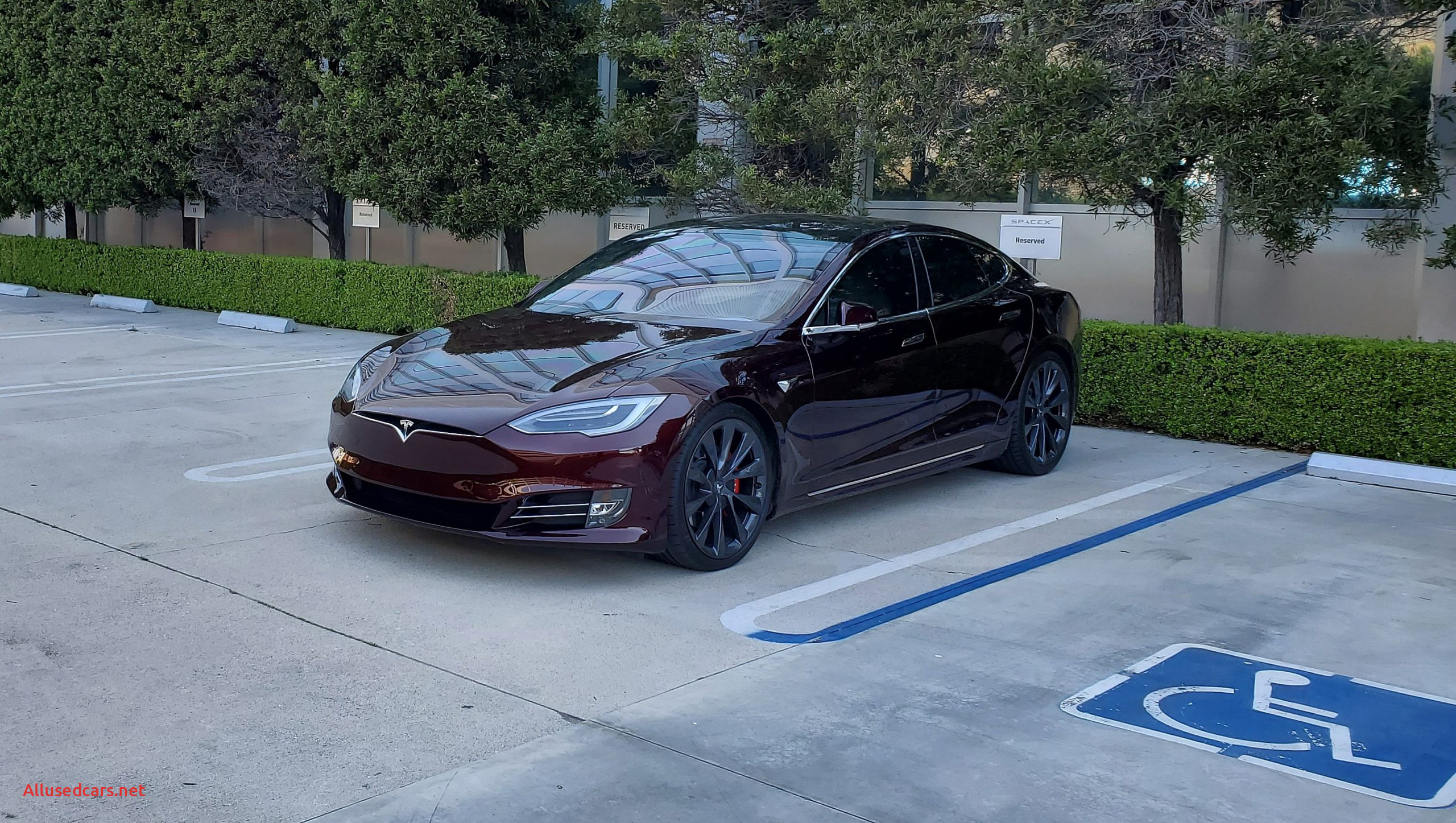 Tesla Announcement today Luxury Tesla Model S with Cryptic Deep Crimson Paint Spotted at