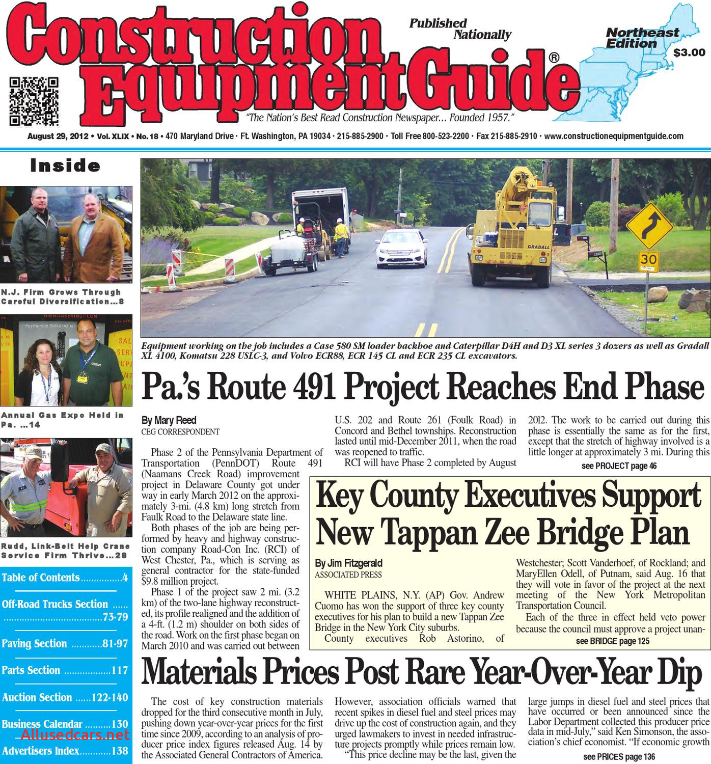Used Cars for Sale 07882 Beautiful northeast 18 2012 by Construction Equipment Guide issuu