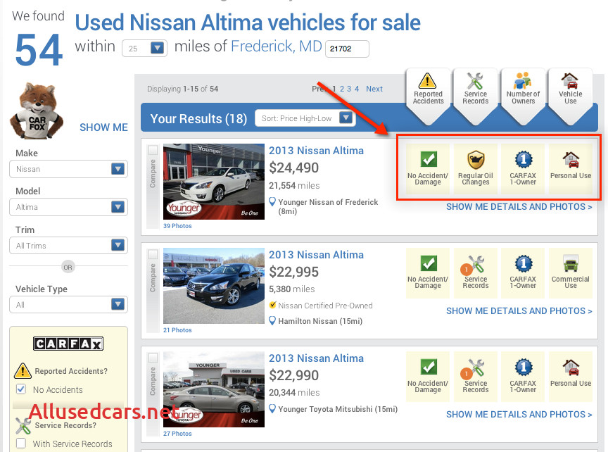"""Carfax Online Dealer Unique Carfax Introduces """"new"""" Used Car Listing Website"""