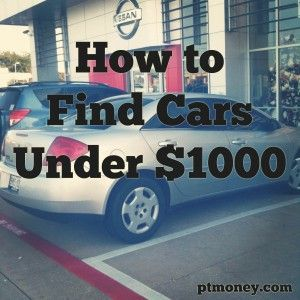 used cars for sale near me under 1000