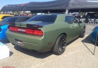 2014 Dodge Challenger Beautiful Satin Od Green Wrap
