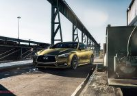 2015 Infiniti Q50 Fresh Gold Wrap On Infiniti Q60 Fitted with Custom Chrome Grille