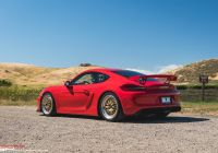 2016 Porsche Cayman Inspirational Sp Motorsports Red Porsche Cayman Gt4 Track Project Gold Bbs