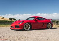 2016 Porsche Cayman Unique Sp Motorsports Red Porsche Cayman Gt4 Track Project Gold Bbs