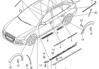 Audi A4 2013 Best Of Molding Roof Window Slot Seal with Trim Strip Audi A4