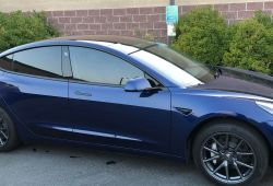 Luxury Blue Tesla Model 3