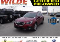 Carfax Used Cars Milwaukee Elegant Certified Pre Owned 2018 Subaru Outback Premium Awd