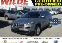 Carfax Used Cars Milwaukee Lovely Certified Pre Owned 2017 Jeep Cherokee Latitude 4wd