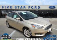Carfax Used Cars One Owner Beautiful 2018 ford Focus Titanium