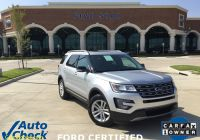 Carfax Used Cars One Owner Inspirational 2017 ford Explorer Xlt