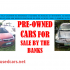 Fresh Cars for Sale by Bank