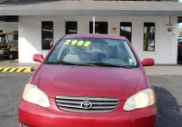 Cars for Sale Under 10000 Tampa Fl Awesome Pre Owned 2003 toyota Corolla Front Wheel Drive Sedan 4 Dr