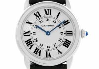 Certified Pre Owned Elegant Cartier Ronde Quartz Womens Watch W Certified Pre