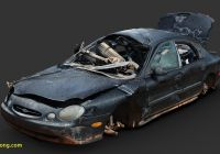 Cheap Vehicle History Report Beautiful Destroyed Car 1 Raw Scan Download Free 3d Model by