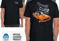 Graveyard Carz Used Cars for Sale Awesome Plymouth Cuda T Shirt Genuine American Retro Classic Mopar Muscle Car Clothing