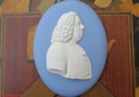 Kİa sorento Inspirational Vintage Wedgwood Blue Jasper Ware William Penn Oval Medallion