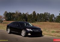 Ls 460 Elegant Drop Of Luxury Black Lexus Ls460 Enhanced by Vossen