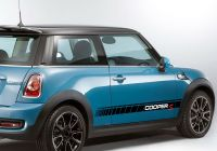 Mini Cooper 2012 Fresh 2 Pcs Car Door Side Stripes Sticker Body Decal for Mini