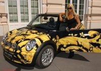 Mini Cooper 2012 Luxury Khokhloma Painting