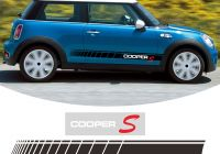 Mini Cooper 2012 Unique 2 Pcs Car Door Side Stripes Sticker Body Decal for Mini