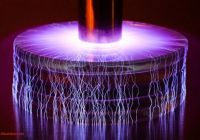 Musical Tesla Coil Unique Gorgeous Mini Lightning Storms Created with Portable Tesla