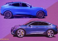 Mustang Mach E Awesome Auto Show Face Off 2021 ford Mustang Mach E Vs 2020 Audi E
