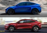 Mustang Mach E Fresh ford Mustang Mach E and Tesla Model Y Lead