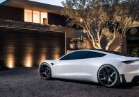 New Tesla Sports Car New Tesla S Roadster In White with Background