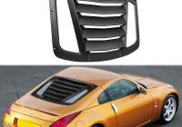 Nissan 350z Fresh Rear Window Louver for 2003 2008 Nissan 350z Matte Black Abs Window Visor Sun Shade Cover Vent