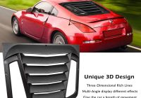 Nissan 350z New E Cowlboy Rear Window Louver for Nissan 350z 2003 2008 Sun Shade Cover In Gt Lambo Style Matte Black