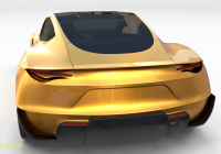 Tesla 2020 Beautiful Tesla Roadster 2020 Yellow with Interior and Chassis